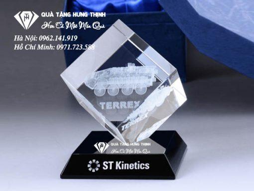 Pha lê 3D khắc logo công ty