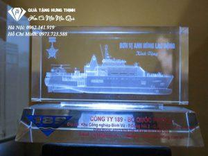 Pha Lê Khắc 3D Con Thuyền 3D33