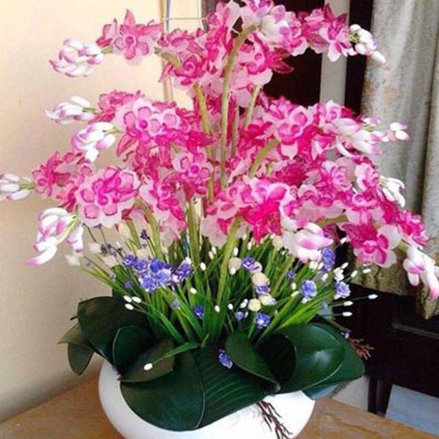 Mẫu hoa lan pha lê làm quà tặng