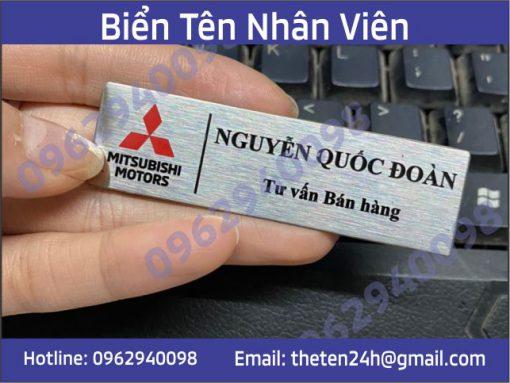 Thẻ tên nhân viên inox
