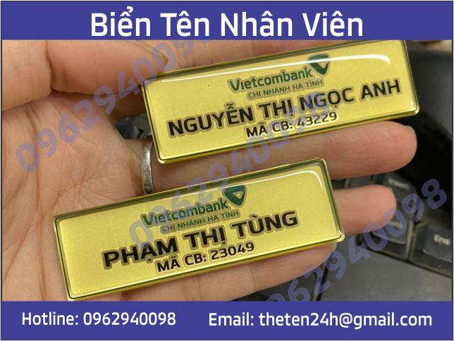 Thẻ tên nhân viên bằng đồng ăn mòn mạ vàng