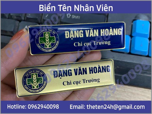thẻ tên nhân viên bằng đồng ăn mòn
