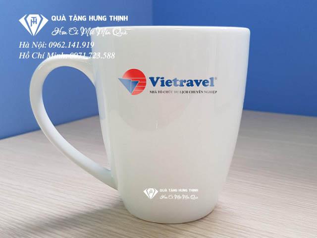 Cốc sứ in logo Vietravel