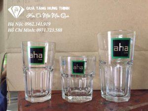 Cốc Thủy Tinh In Logo Quán Cafe, Nhà Hàng TT03