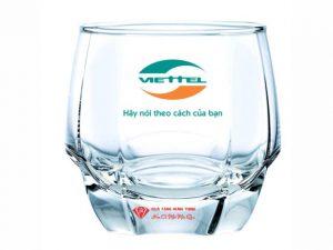 Cốc Vát Thủy Tinh In Logo TT15
