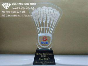 Cúp Qủa Cầu Lông Pha Lê CL03
