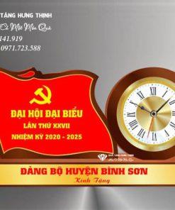 đồng hồ để bàn hình lá cớ