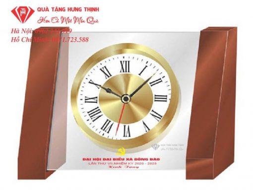 đồng hồ gỗ để bàn