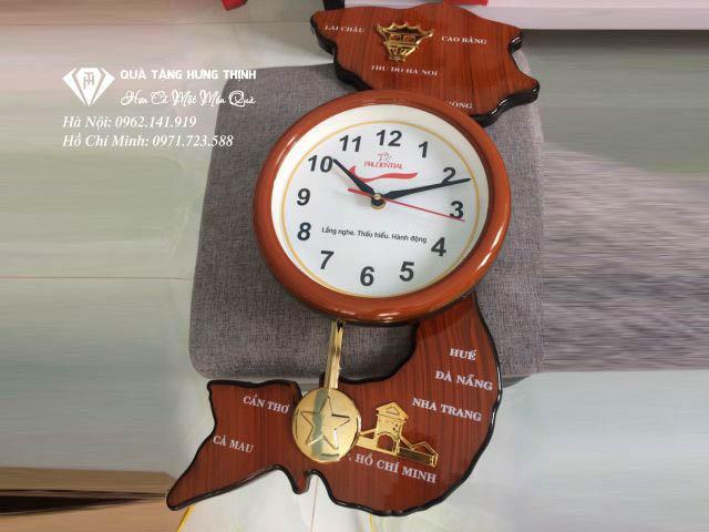 Kiểu dáng đồng hồ treo Bản đồ Việt Nam