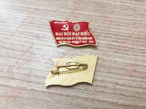Huy hiệu Đại hội đảng in hình Bác Hồ 01