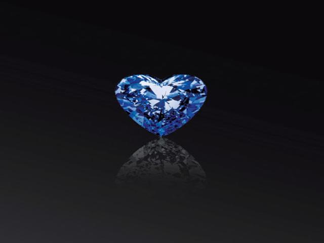 Viên kim cương Heart of Eternity cho thấy sự độc đáo cả về màu sắc lẫn ngoại hình. Ảnh: Internet