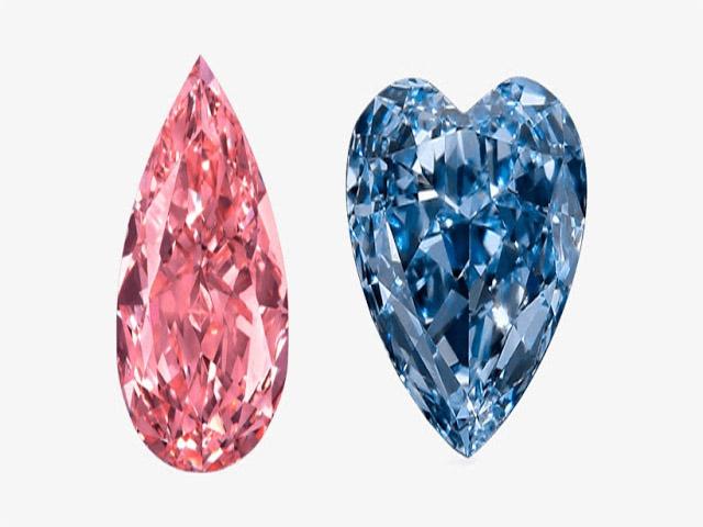 Kim cương màu có giá thành cao hơn kim cương trắng. Ảnh: Internet