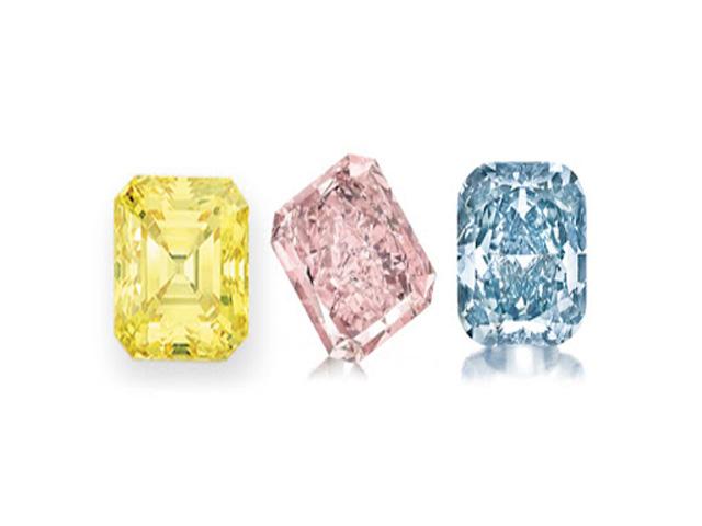 Kim cương màu sở hữu vẻ lấp lánh hơn kim cương trắng. Ảnh: Internet