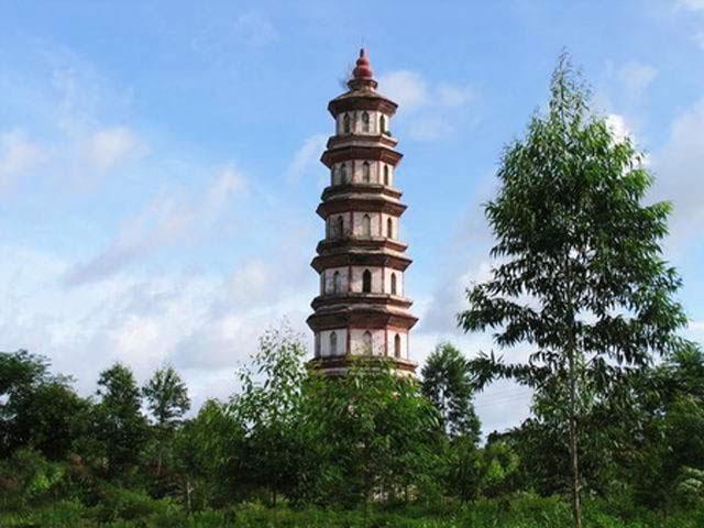 Tháp Văn Xương có nguồn gốc tại Quảng Tây, Trung Quốc. Ảnh: Internet
