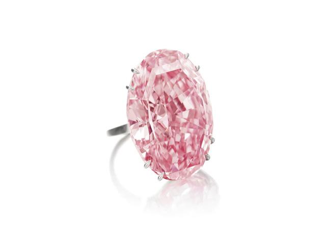 Viên kim cương Pink Star đang là viên kim cương hồng đắt nhất thế giới. Ảnh: Internet