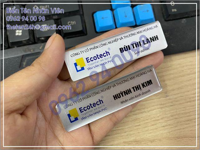 Thẻ tên nhân viên giá rẻ