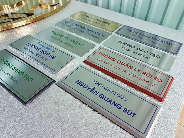 Bảng tên các phòng ban trong công ty