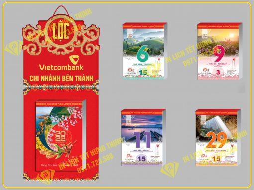 Lịch Block Ngàn Dặm Gấm Hoa Đất Việt