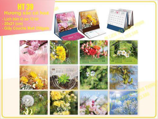 Lịch Chữ A - Hương sắc cỏ hoa