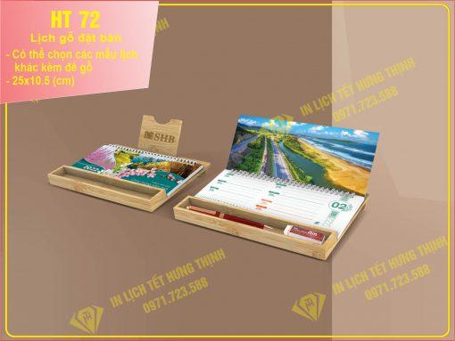 lịch gỗ đặt bàn HT 72